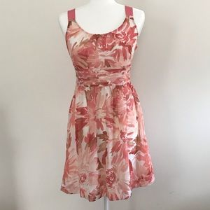 LOFT Dresses - Pink and white floral Loft dress